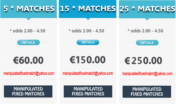 manipulated fixed matches